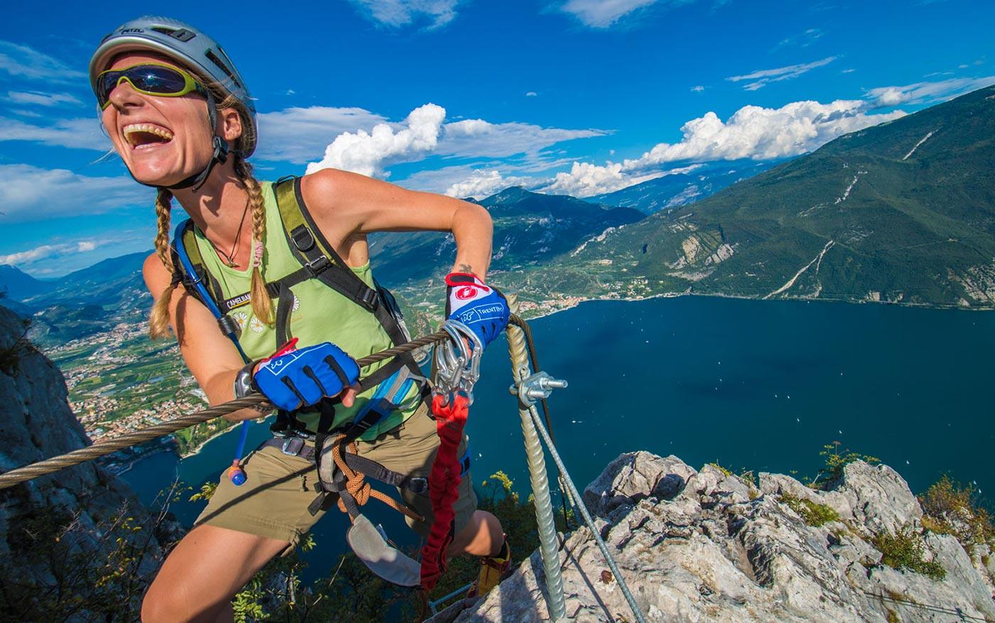 Klettersteig Cima Capi : Klettersteig auf der cima capi am gardasee mit den bergführern aus arco