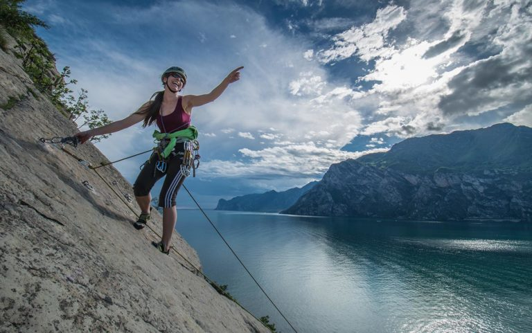 rock climbing lake garda