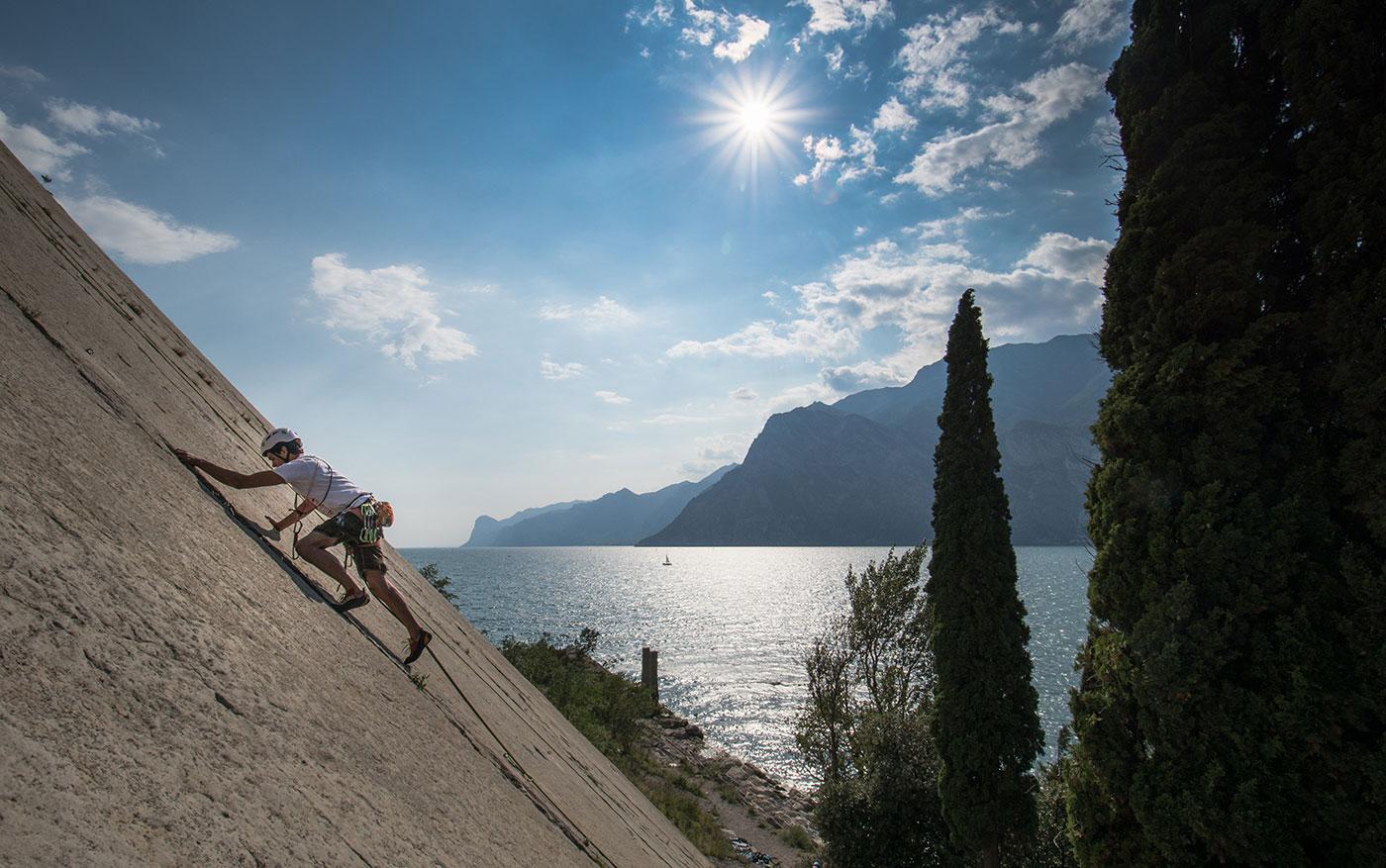 corso arrampicata avamzato al lago di garda per adulti
