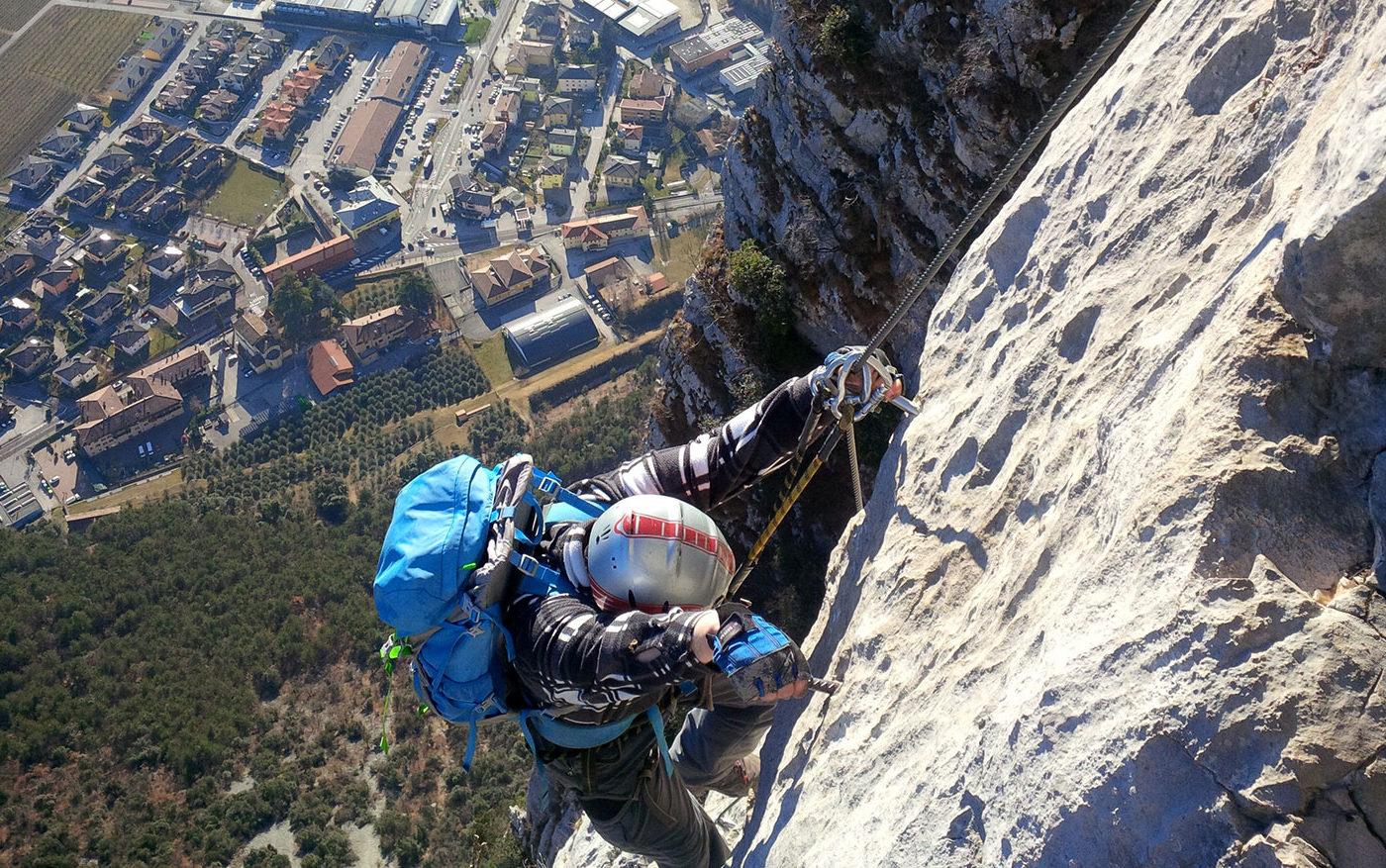 Klettersteig Pisetta Gardasee