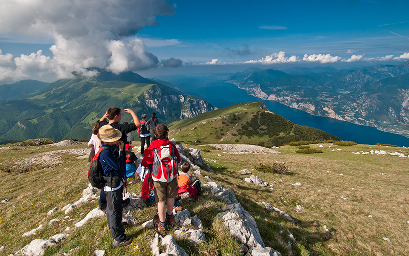 trekking and excursions in lake garda with the mountain guides from